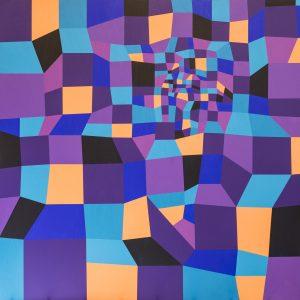 Farbraum - Lila/Orange - Acrylmalerei