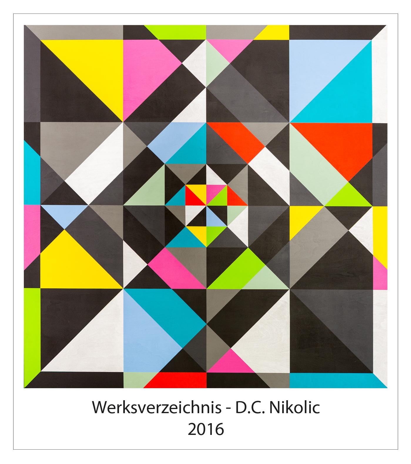 Werksverzeichnis 2016 Darko Caramello Nikolic