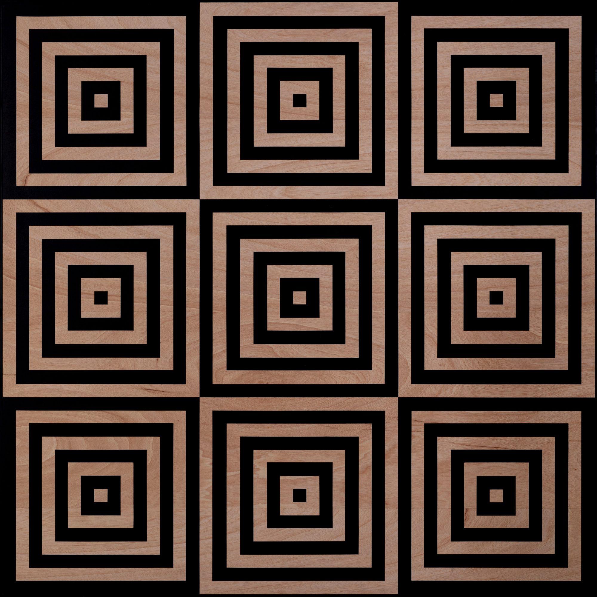 """""""Fach und Werk 1"""" - Acryl auf Holz - 170 x 170 - 2020"""