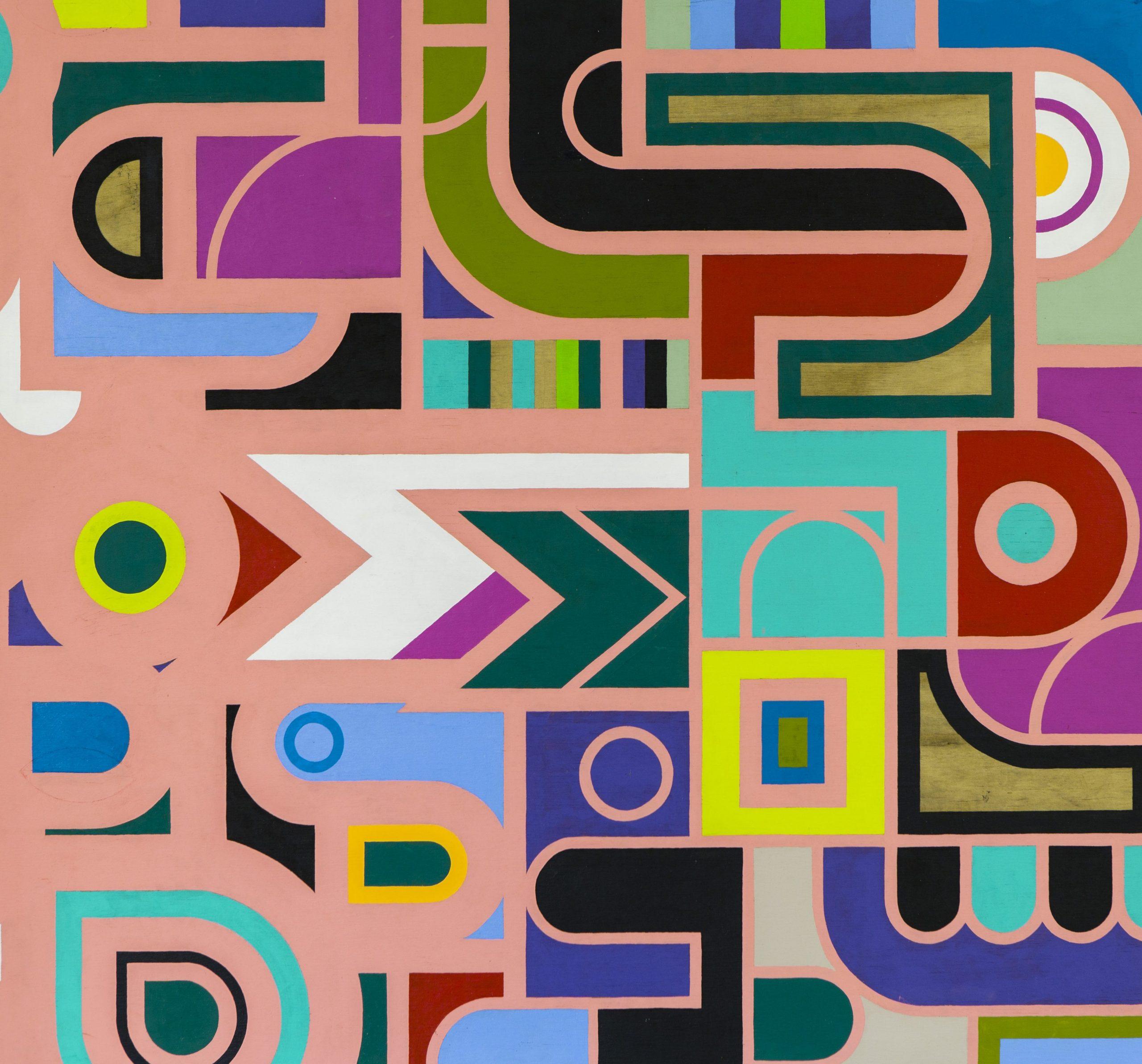 """Emphasis of Borders"" Acryl auf Holz - 110x110 cm - 2014"